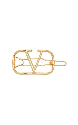 Valentino Garavani VLogo Brass Hair Clip