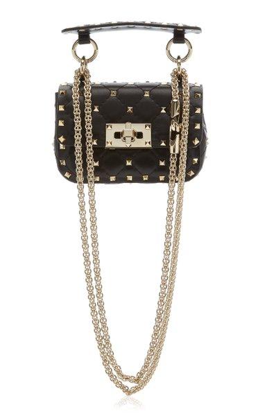 Valentino Garavani Micro Rockstud Spike Leather Top Handle Bag