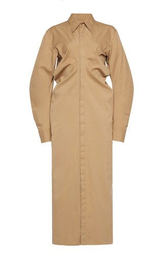 Button-Down Cotton Midi Dress