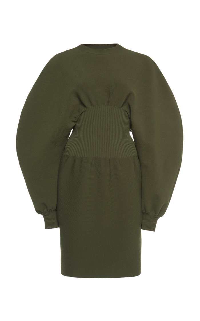 Wool Knit Mini Dress