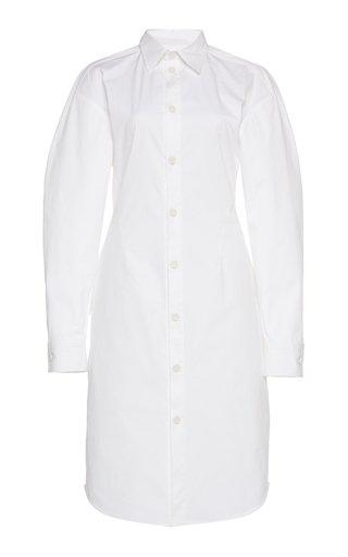 Stretch Poplin Shirt Dress