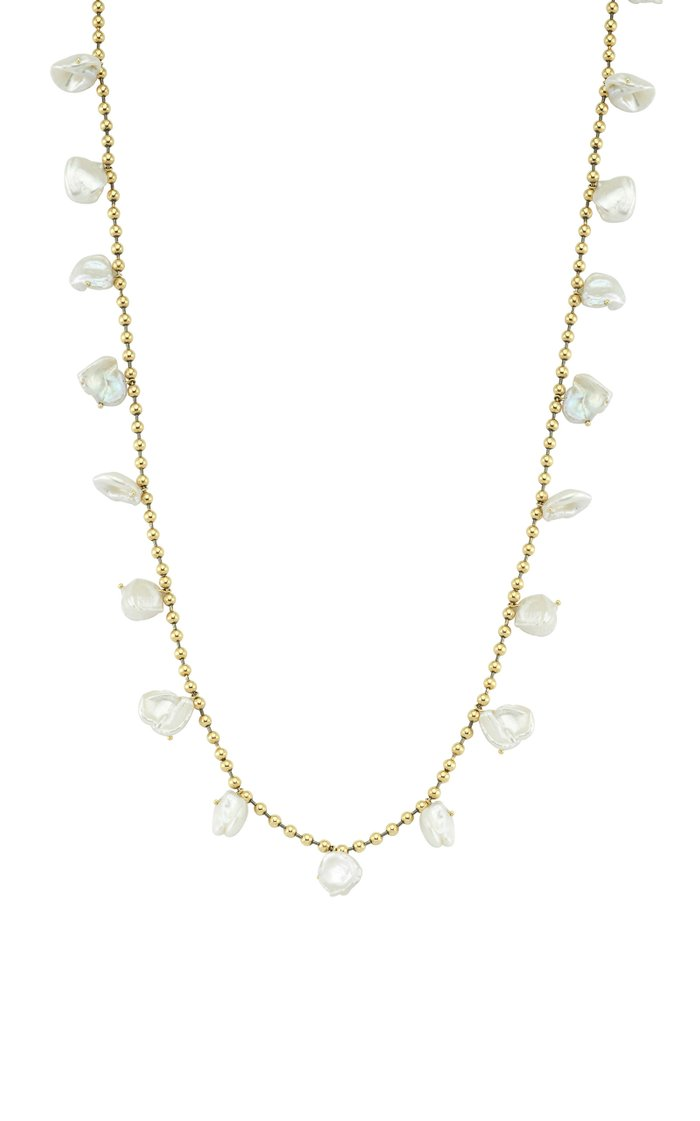 Pearls of Joy 14K Yellow-Gold and Rhodium Long Necklace
