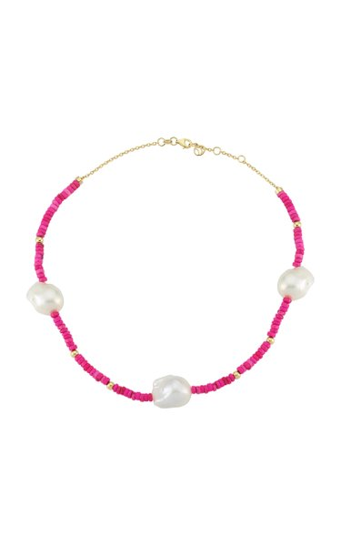 Les Bonbons Pearl 14K Yellow Gold Beaded Necklace