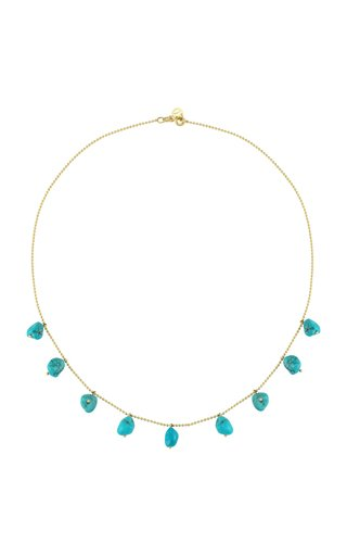 Fallen Sky Turquoise 14K Yellow Gold Necklace