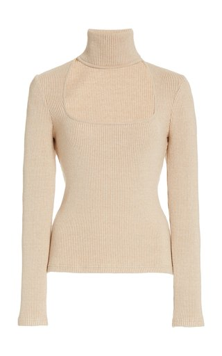 Janessa Cutout Ribbed-Knit Top