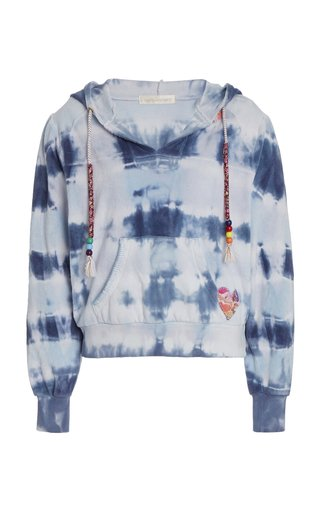 Kirby Beaded Tie-Dyed Cotton Terry Hoodie
