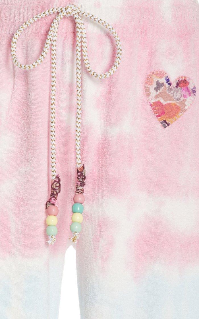 Santinella Beaded Tie-Dye Cotton Pants
