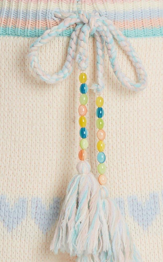 Chabela Cotton-Blend Heart-Knit Pants