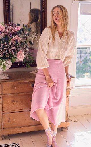 Hardin Wool-Cashmere Midi Skirt