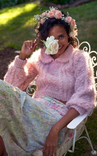 Asaria Smocked Drop Waist Midi Skirt