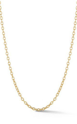 14K Yellow Gold Oval Link Chain