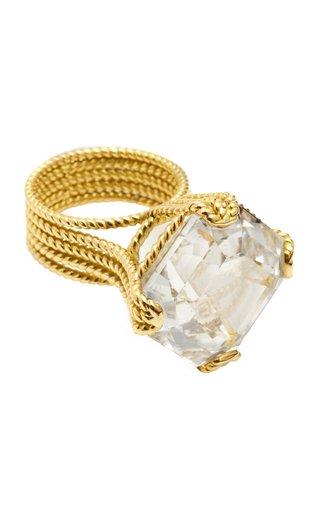 Icon Veil 18K Yellow Gold Goshenite Ring