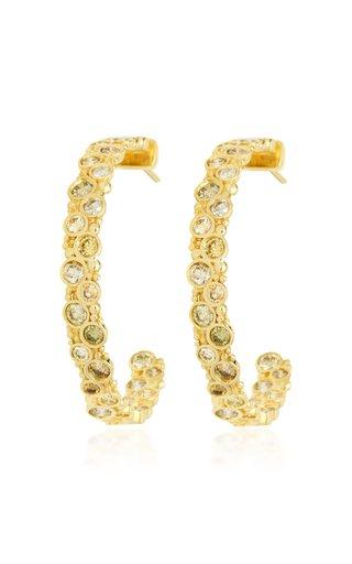 Pop 18K Yellow Gold Diamond Hoop Earrings