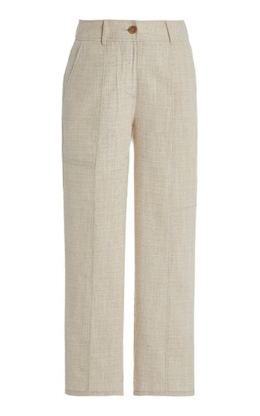 Mavis Cotton Straight-Leg Pants