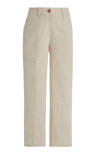 Mavis Cotton Straight-Leg Pants