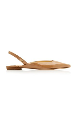 Gini Patent Leather Slingback Flats