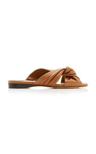 Narisa Leather Slide Sandals