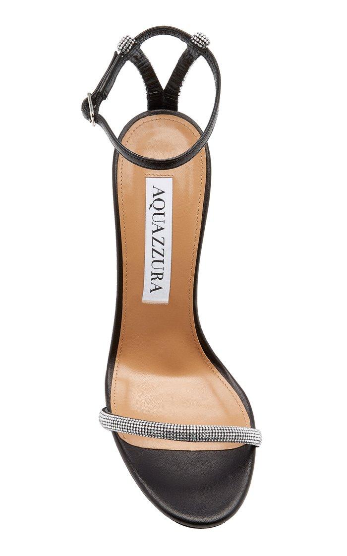 Moon 105 Crystal-Embellished Suede Sandals