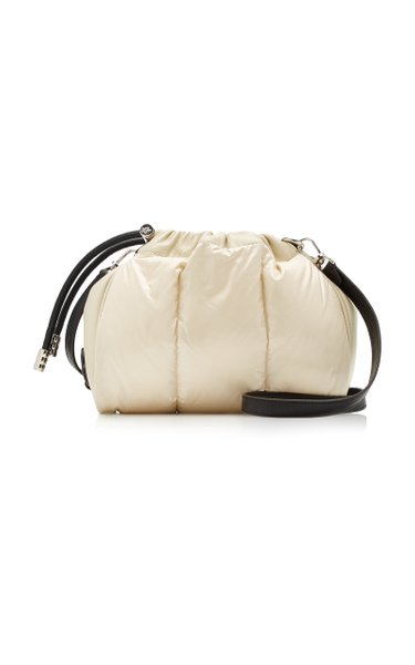 Mini Seashell Leather-Trimmed Quilted Shell Clutch