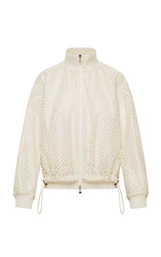 Pulcherrima Cotton-Blend Mesh Jacket