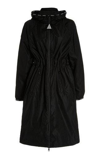 Long Drawstring-Detailed Shell Jacket
