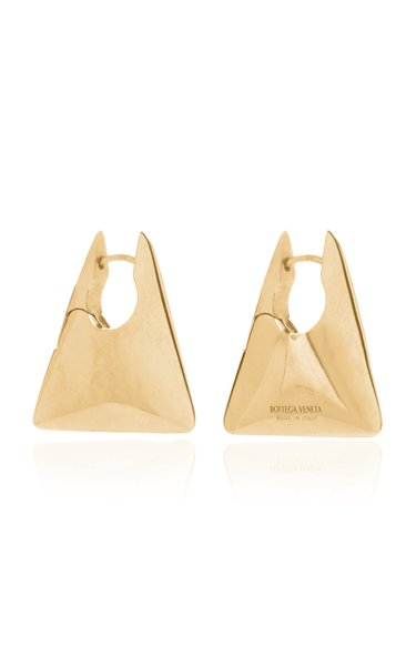 Gold-Plated Triangle Hoop Earrings