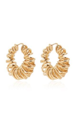 Gold-Plated Spiral Hoop Earrings