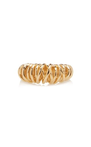Spiral Gold-Plated Ring