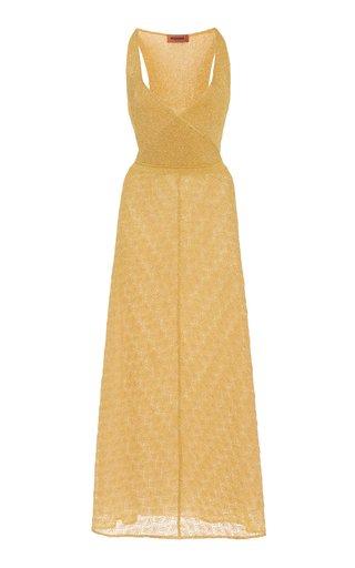 Metallic Knit Maxi Dress
