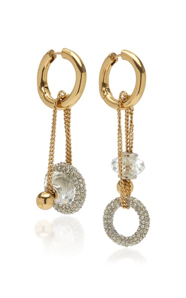 Apollo Crystal-Embellished 12K Gold-Plated Earrings