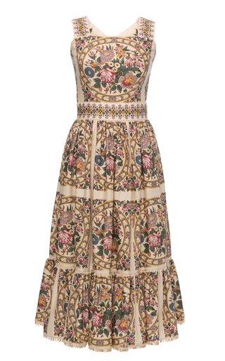 Jardin Floral Cotton Midi Dress