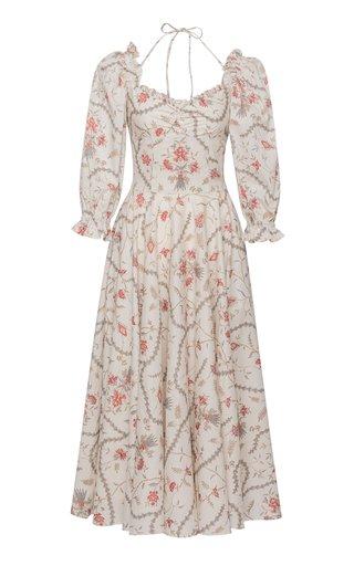 Angélique Floral Cotton Midi Dress