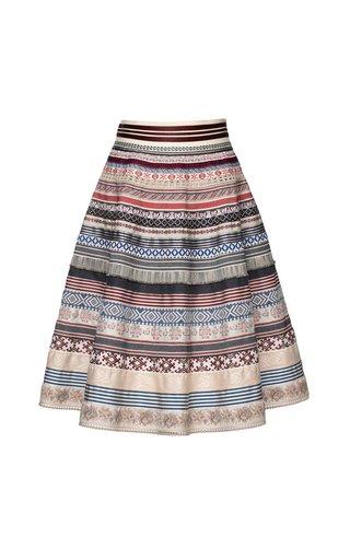 Original Midi Cotton Blend Ribbon Skirt