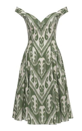 Sophia Printed Cotton Midi Dress