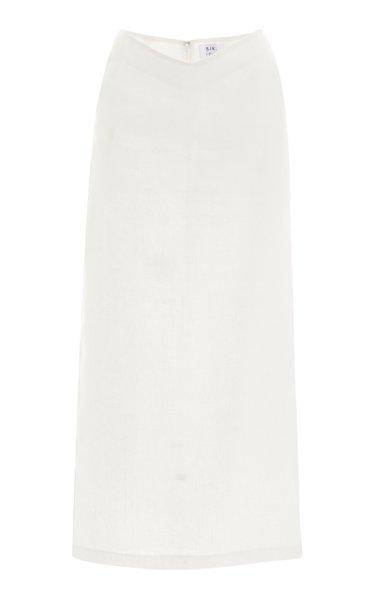 Ambroise Linen Midi Skirt