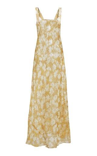 Anais Printed Silk Maxi Dress