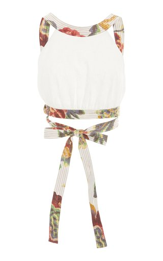 Ambroise Open-Back Linen Top and Skirt Set