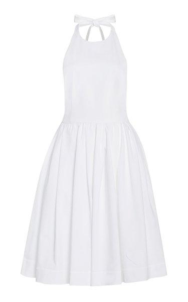Cotton Mini Halter Dress