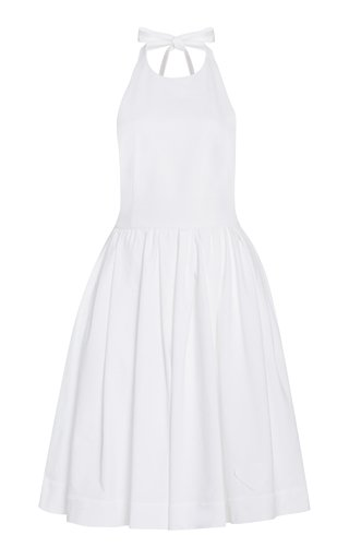 Cotton Mini Halter Dress