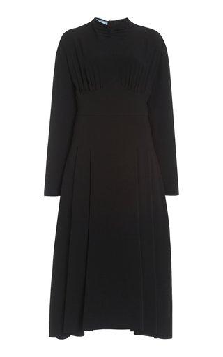 Satin Sable Midi Dress