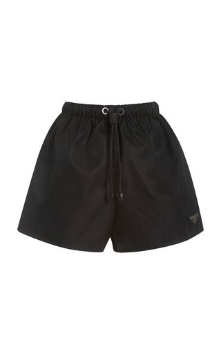 Logo-Detailed Nylon Gabardine Shorts
