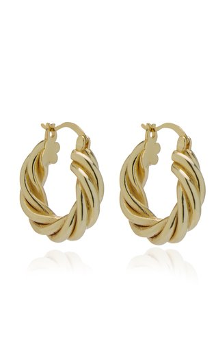Diane 14k Gold-Plated Hoop Earrings