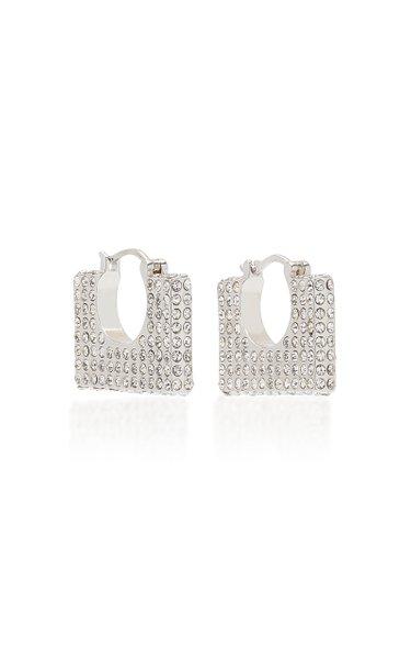 Cara Crystal-Embellished Sterling Silver Earrings