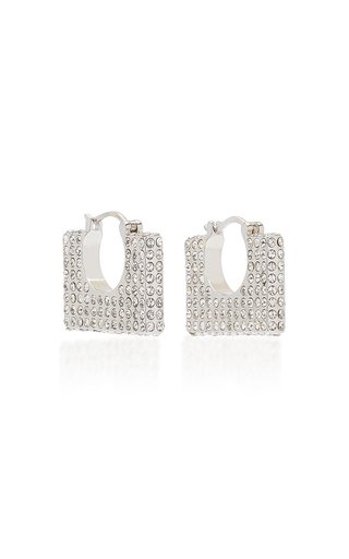 Cara Crystal-Embellished Sterling Silver Earrings