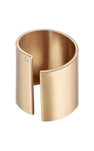 Evelyn Crystal-Embellished 14K Gold-Plated Ring