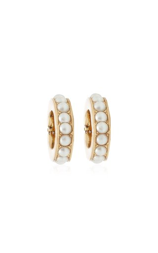 Eden Pearl-Embellished 12K Gold-Plated Ear Cuffs