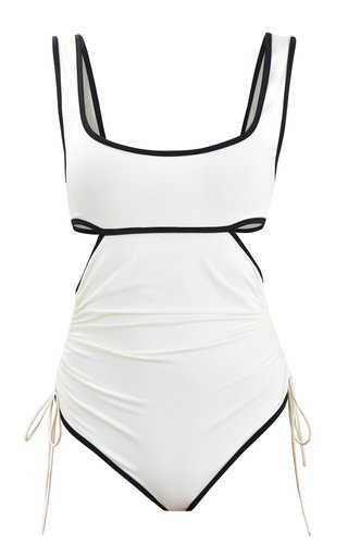 Excursionist Cutout Ruched One-Piece Swimsuit