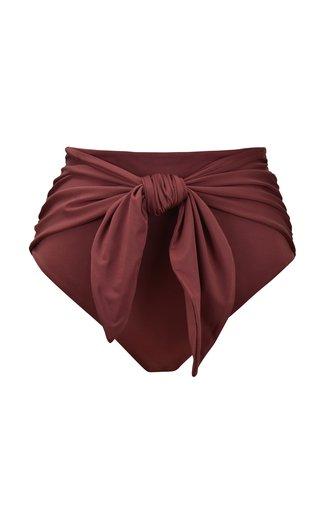 Farewell Belted High-Waist Bikini Bottom