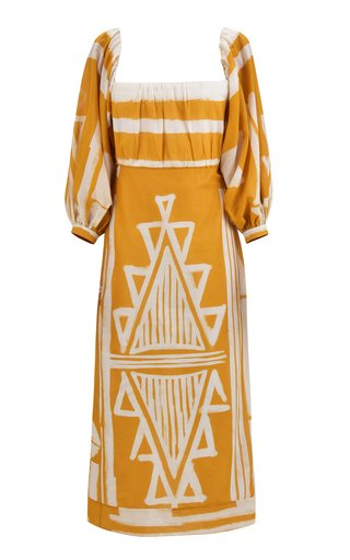 Culture Charm Printed Cotton Midi Dress