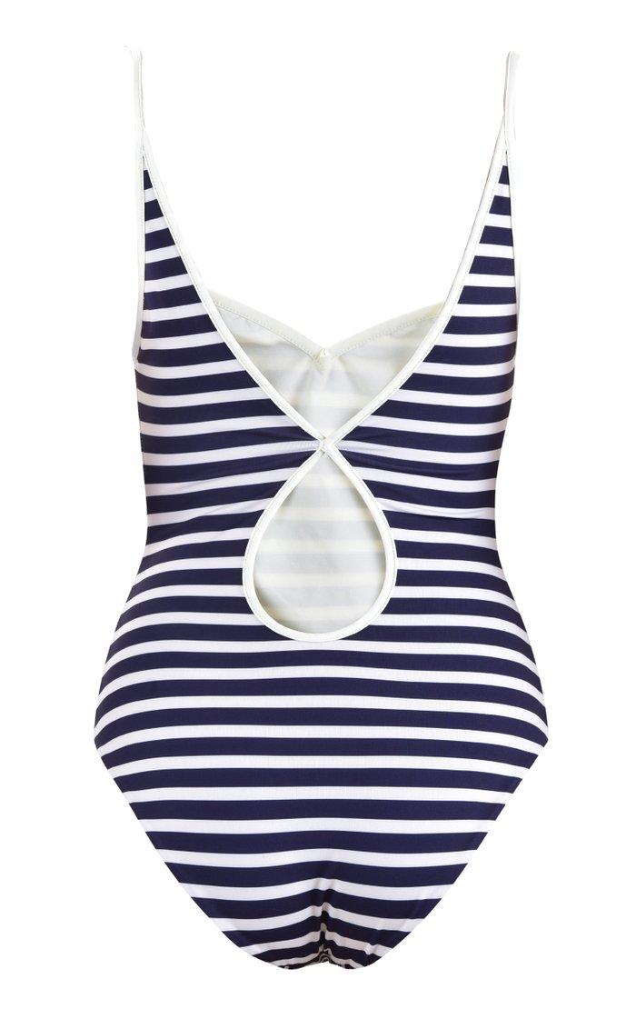 Puerto Mutis Cutout Striped One-Piece Swimsuit